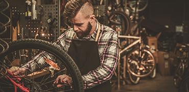Vad vore en cykelbutik utan verkstad?